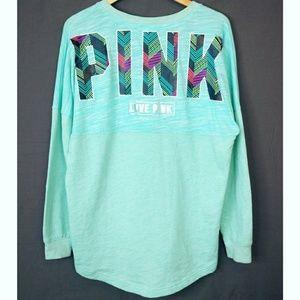 PINK Victoria's Secret Oversize Aqua Sweatshirt
